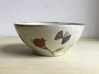鳥と蝶とてんとう虫のお茶碗 の画像