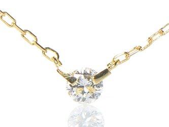 K18 ホワイトダイヤモンド ペンダント K18イエローゴールド YK-BK065CIの画像