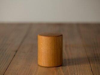【受注生産品】ろくろ挽きの桑の木の茶筒(小)の画像