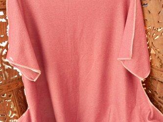 ★sale 地味目赤 ボーダーカラ―シャツ (Lサイズ)の画像
