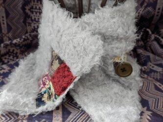温か ネックウオーマー (クルクル グレー)の画像