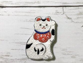 手刺繍日本画ブローチ*川崎巨泉「宇都宮辺の猫笛」よりの画像