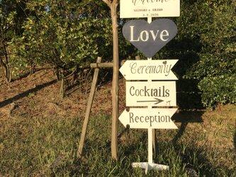 wedding sign ① ウェディングサイン 【名前と日付オーダー可】の画像