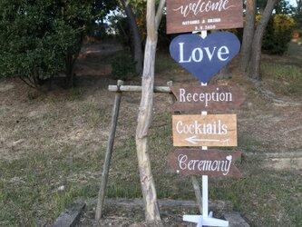 wedding sign ③ ウェディングサイン 【名前と日付オーダー可】の画像