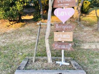 wedding sign ④ ウェディングサイン 【名前と日付オーダー可】の画像