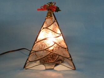 ステンドグラス 三角ツリー クリアの画像