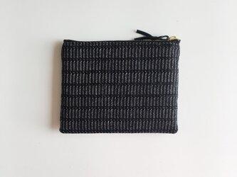 手織りミニポーチ(Accessory case 14cm Black Alinea)の画像