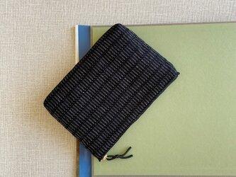 手織りメイクポーチ (Make up bag Black Alinea)の画像