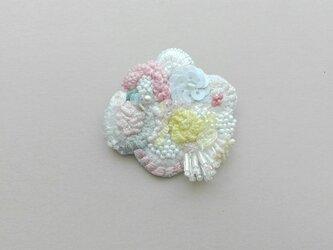 刺繍 ブーケブローチ の画像