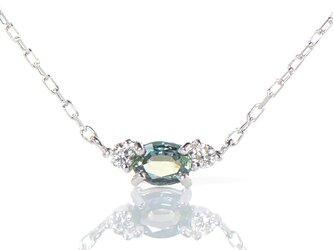 K18 アレキサンドライト×ダイヤモンド ペンダント K18ホワイトゴールド YK-BK084CIの画像