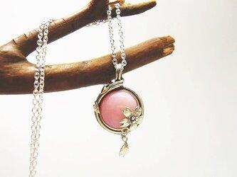 円桜ネックレス ピンクオパール SILVER925の画像