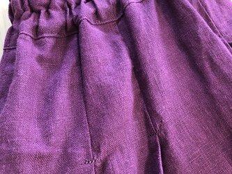 リネンのエッグパンツ M~Lの画像