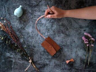 リッシオ_ダークブラウン◆外装◆あかちゃん財布◆三つ折りの画像