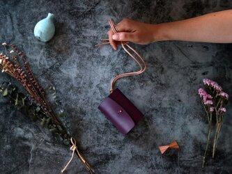 ダコタ_パープル◆外装◆あかちゃん財布◆三つ折りの画像
