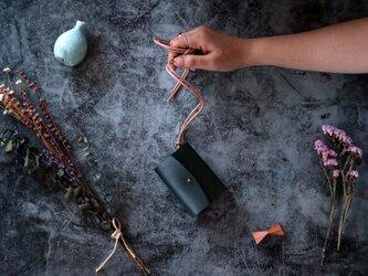 イングラサット_グリーン◆外装◆あかちゃん財布◆三つ折りの画像