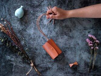 イングラサット_タン◆外装◆あかちゃん財布◆三つ折りの画像