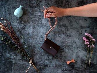 イングラサット_ダークブラウン◆外装◆あかちゃん財布◆三つ折りの画像