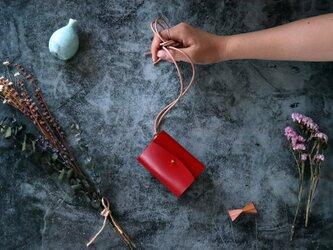 イングラサット_レッド◆外装◆あかちゃん財布◆三つ折りの画像