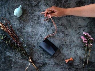 イングラサット_ネイビー◆外装◆あかちゃん財布◆三つ折りの画像