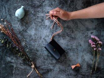 イングラサット_ブラック◆外装◆あかちゃん財布◆三つ折りの画像