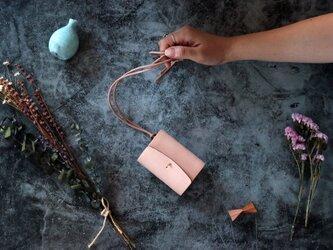 ヌメ革(栃木レザー)_ナチュラル◆外装◆あかちゃん財布◆三つ折りの画像