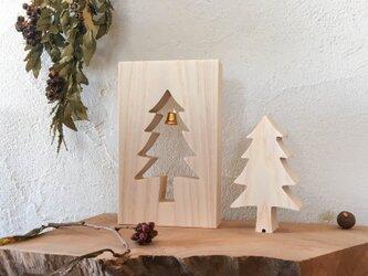 ひのきのクリスマスツリー(木製 ミニツリー)の画像