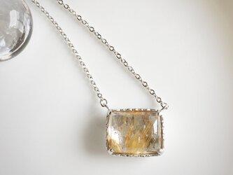 silver925 ルチル ネックレスの画像