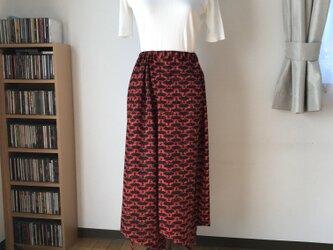 着物リメイク スカート 扇の画像