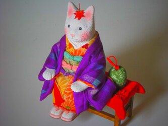 縮緬福猫 紅葉猫(もみじねこ) その八の画像