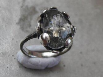 雪の結晶と光のリングの画像