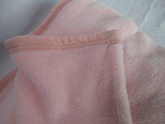 マイクロファイバー毛布 ベビー毛布サイズ ピンクの画像