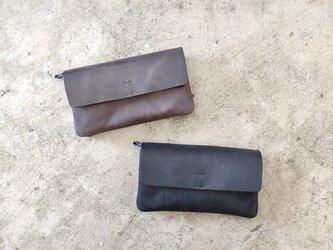 ポーチウォレット L【受注生産】本革 レザー 長財布の画像