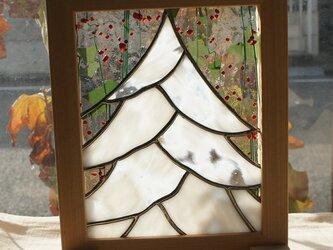 雪降るクリスマスの画像
