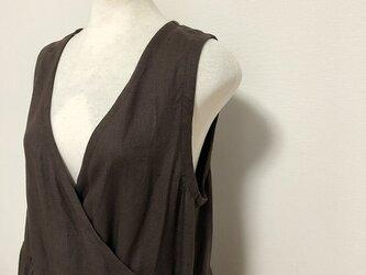 袖なし カシュクールワンピース M~Lの画像