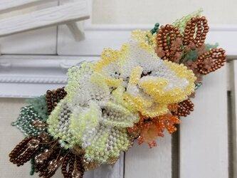 バレッタ Bouquet  (イエローローズ)の画像