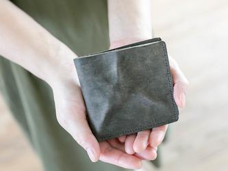 切落し2つ折りレザー財布 / ヴィンテージ・グレーの画像