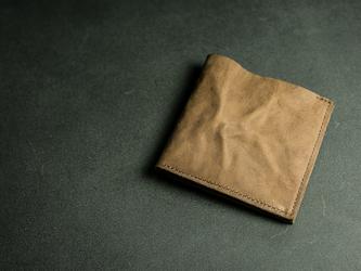切落し2つ折りレザー財布 / ヴィンテージ・モカの画像