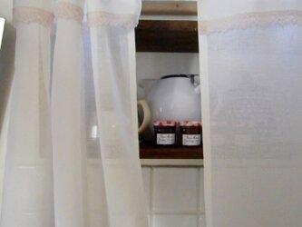 コットン×スカラップレースの小さなカフェカーテン*@バランス*の画像