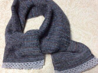 ♪軽い手織りストールの画像