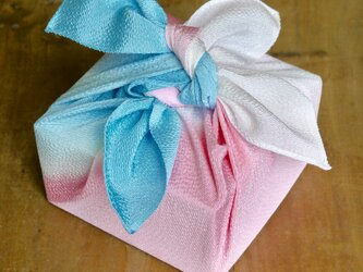 正絹丹後ちりめん 風呂敷 かさねの色目遊び 桜(さくら)の画像