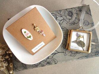 【限定数】スミレの押し花ガーランドのコフレセット■ ピンク色のパンジーの画像