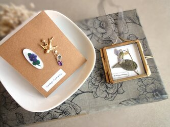 【限定数】スミレの押し花ガーランドのコフレセット■ 紫色のパンジーの画像