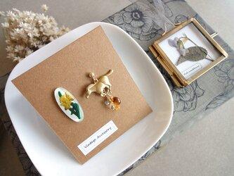 【限定数】スミレの押し花ガーランドのコフレセット■ 黄色の水仙の画像