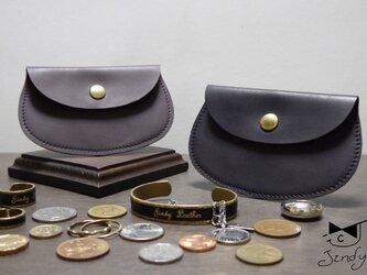 大 コインケース 本革 ジュエリー袋 ポケットウォレット 小銭入れ ミニ財布の画像