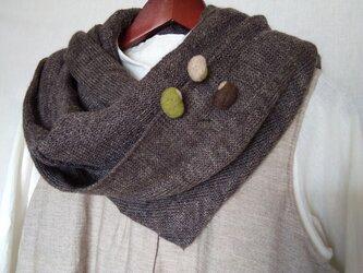 羊毛フェルトの お豆ブローチ3粒セット GrBrBeの画像