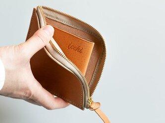 【イニシャル刻印OK!】本革のL字ファスナー財布の画像
