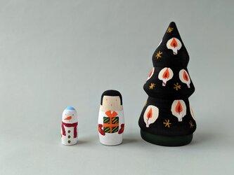 クリスマスツリー マトリョーシカ no.8(女の子・雪だるま)の画像