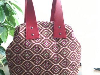 フランスジャガード生地 ・・ハンドバッグの画像