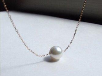 K18 PG 高品質 あこや真珠 8〜8.5mm ネックレスの画像