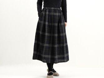 タックギャザースカート(チェック)#282の画像